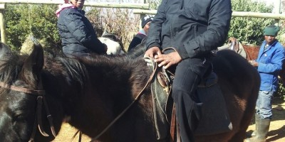 On horseback in Lesotho