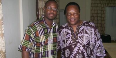 Dr. Jackson w/ Dr. Molefi Asante in Ghana