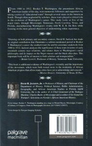 Booker T. Washington.Back Cover